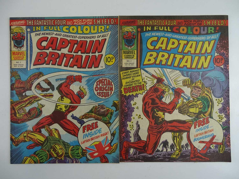 Lot 323 - CAPTAIN BRITAIN #1 & 2 - (2 in Lot) - (1976 -...