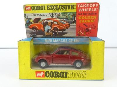 Lot 11 - A CORGI 341 Mini Marcos GT850 in maroon - VG...