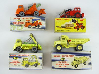Lot 39 - A group of DINKY construction related vehicles...