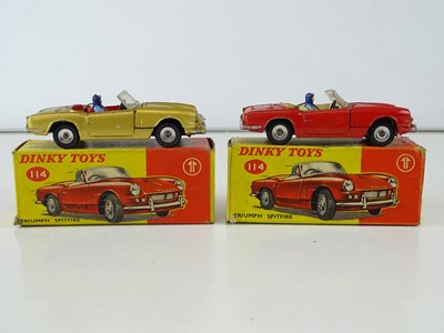 Lot 42 - A pair of DINKY 114 Triumph Spitfires...