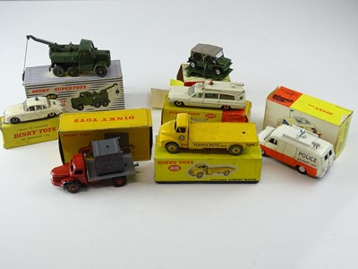 Lot 43 - A mixed group of DINKY toys in varying...