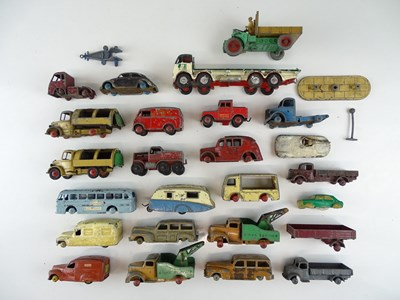 Lot 44 - A mixed group of playworn vehicles mostly by...
