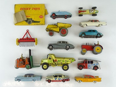 Lot 46 - A mixed group of playworn vehicles mostly by...