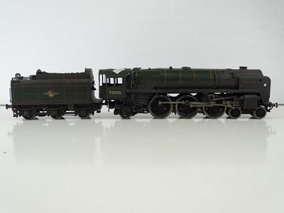 Lot 577 - A kit built finescale O Gauge Britannia Class...