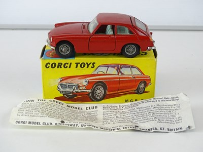 Lot 8 - A CORGI 327 MGB GT in dark red - VG in G/VG box
