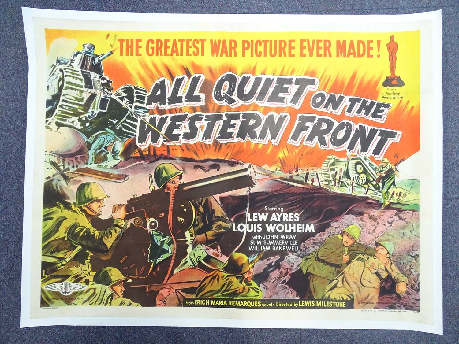 Lot 337 - ALL QUIET ON THE WESTERN FRONT (1930) -...