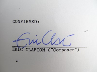 Lot 409 - ERIC CLAPTON - A hand signed ERIC CLAPTON...