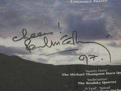 Lot 278 - THE BEATLES: PAUL MCCARTNEY: A framed and...