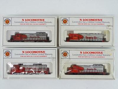Lot 13 - A group of N Gauge American Outline diesel...