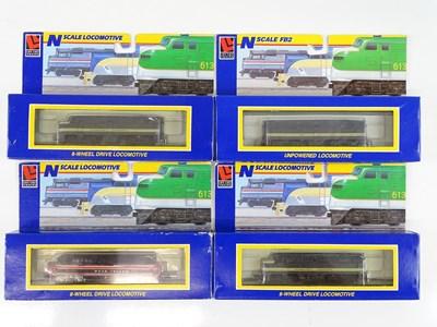 Lot 15 - A group of N Gauge American Outline diesel...