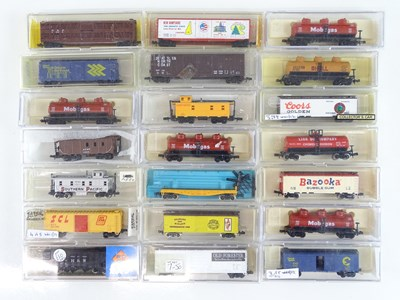 Lot 16 - A group of N Gauge American Outline freight...