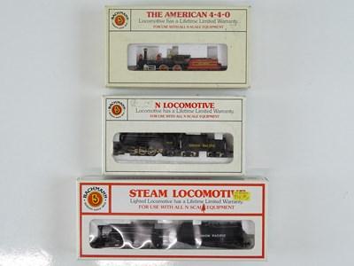 Lot 19 - A group of N Gauge American Outline steam...
