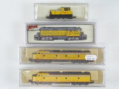 Lot 2 - A group of American Outline N Gauge diesel...