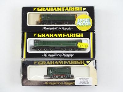 Lot 23 - A group of N Gauge diesel locomotives by...