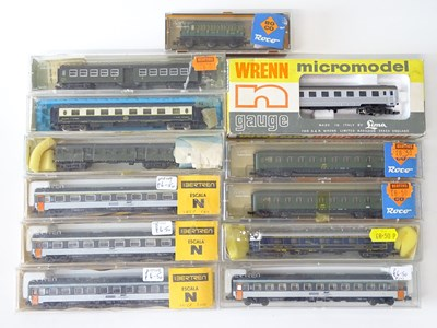 Lot 25 - A group of N Gauge French and Belgian Outline...