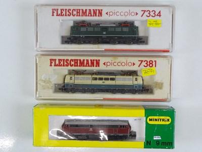 Lot 26 - A group of N Gauge German Outline diesel and...