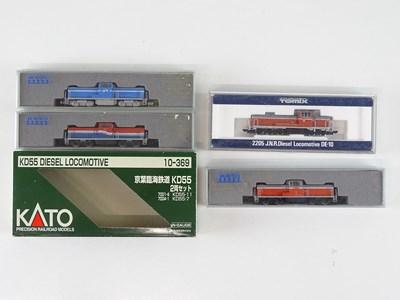 Lot 27 - A group of N Gauge Japanese Outline diesel...
