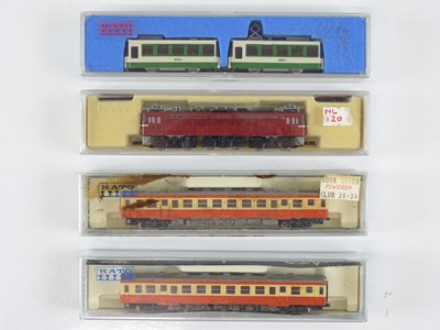 Lot 28 - A group of N Gauge Japanese Outline items by...