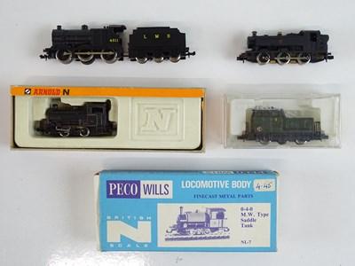 Lot 31 - A group of N Gauge steam and diesel...