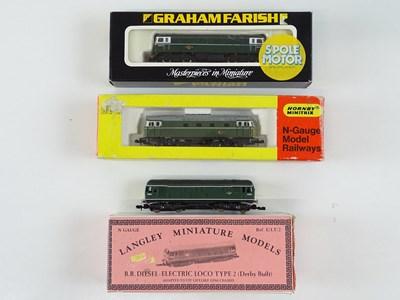 Lot 32 - A group of N Gauge Sulzer diesel locomotives...