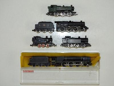Lot 36 - A group of unboxed N Gauge steam locomotives...