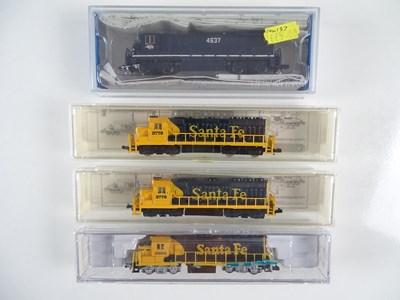 Lot 4 - A group of American Outline N Gauge diesel...