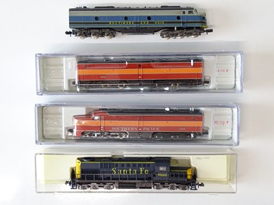 Lot 42 - A mixed group of American Outline N Gauge...
