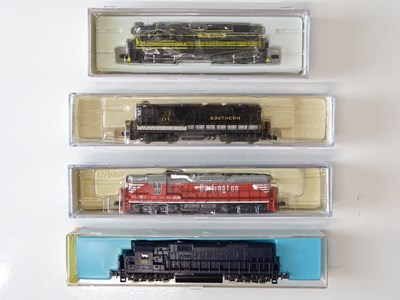 Lot 43 - A mixed group of American Outline N Gauge...