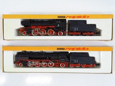 Lot 47 - A pair of German Outline N Gauge steam...
