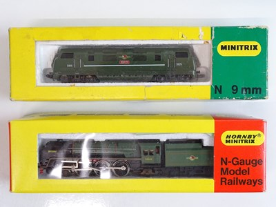 Lot 48 - A pair of MINITRIX locomotives to include a...