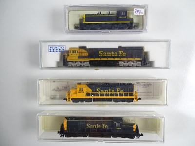 Lot 6 - A group of American Outline N Gauge diesel...