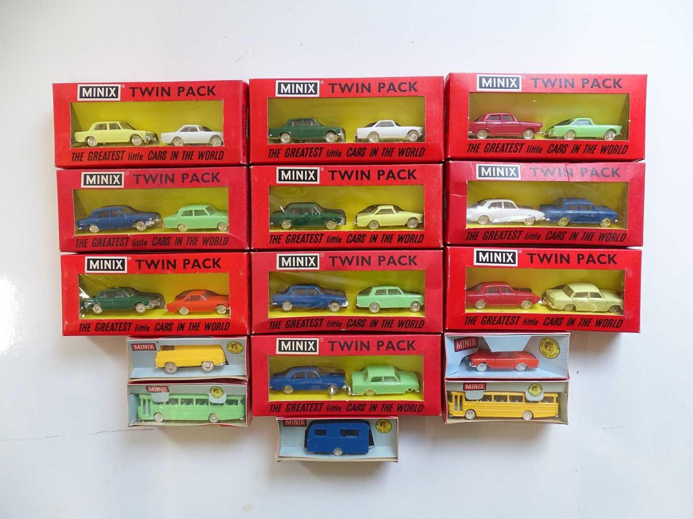 Lot 141 - A quantity of assorted TRI-ANG MINIX cars, van,...