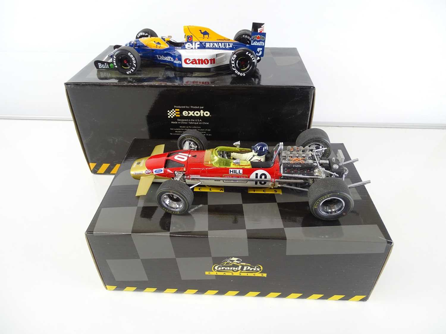 Lot 149 - A pair of 1:18 scale Formula 1 cars by GRAND...
