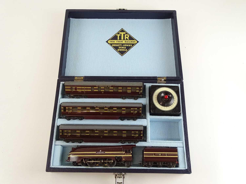 Lot 280 - A TRIX TWIN rare pre war Coronation Scot train...
