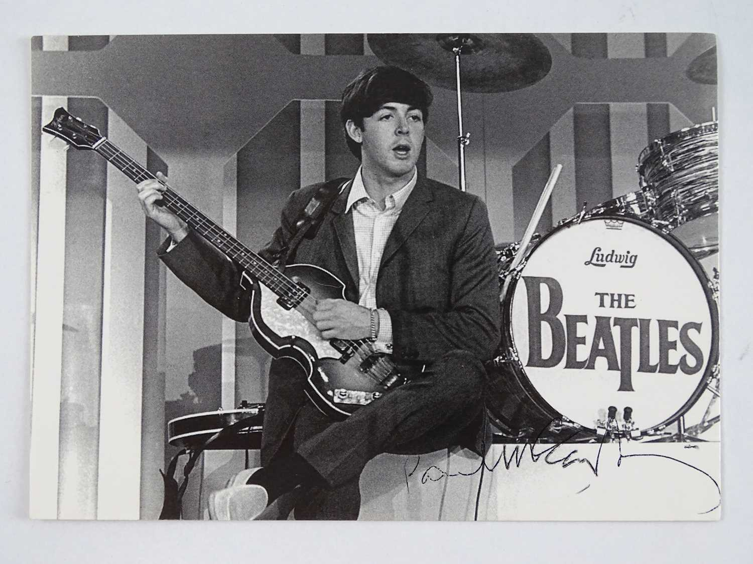 Lot 137 - A signed black/white postcard of PAUL...