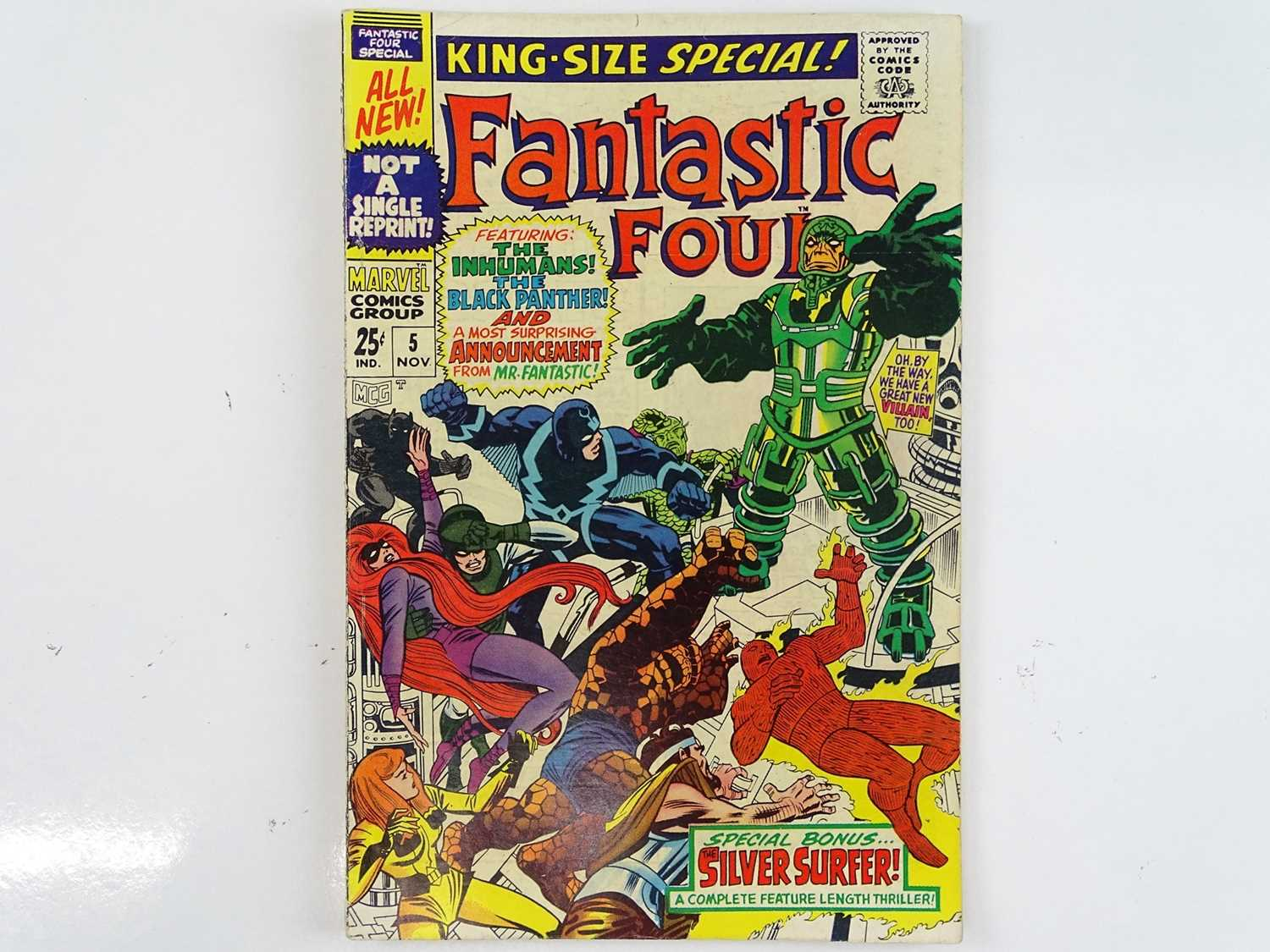 Lot 166 - FANTASTIC FOUR KING-SIZE ANNUAL SPECIAL #5...