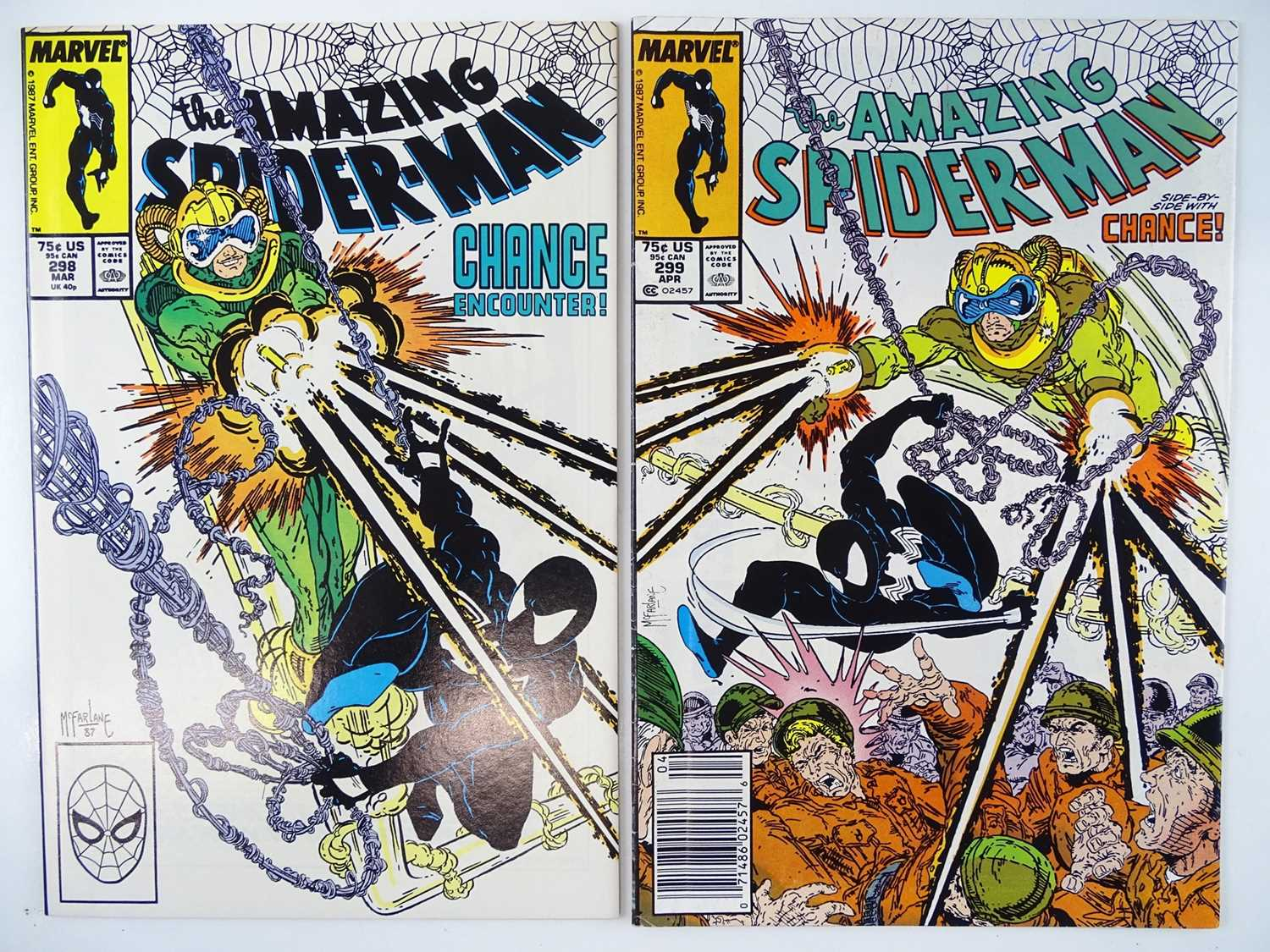 Lot 594 - AMAZING SPIDER-MAN #298 & 299 - (2 in Lot) -...