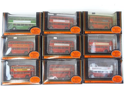 Lot 16 - A group of EFE 1:76 scale buses - all London...