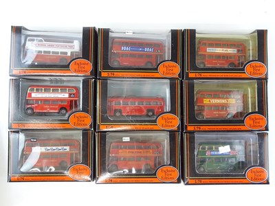 Lot 17 - A group of EFE 1:76 scale buses - all London...