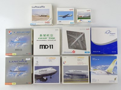 Lot 2 - A group of 1:500 scale aircraft models - G/VG...