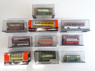 Lot 3 - A group of 1:76 scale buses by CORGI OOC in...