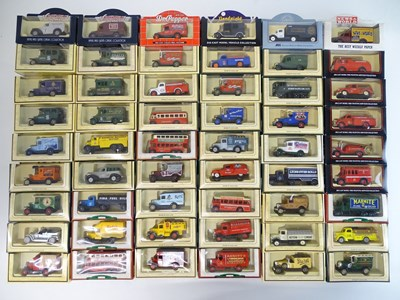 Lot 30 - A large tray of diecast vans, buses etc mostly...