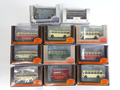 Lot 35 - A mixed group of 1:76 scale buses by EFE in...