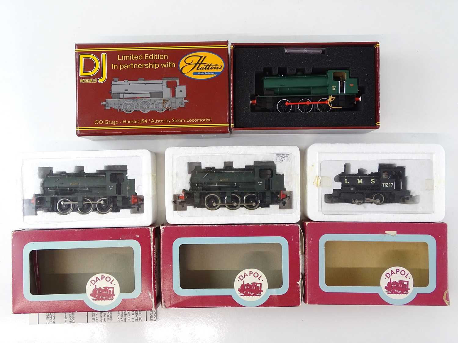 Lot 399 - A group of Saddle tank steam locomotives by...