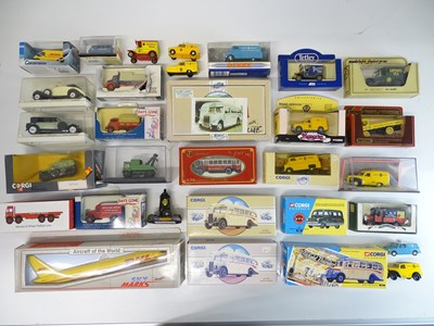 Lot 42 - A mixed group of diecast cars, vans and buses...