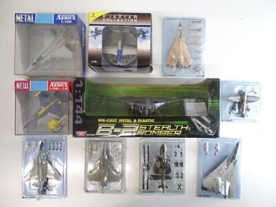 Lot 48 - A mixed selection of boxed military aircraft...