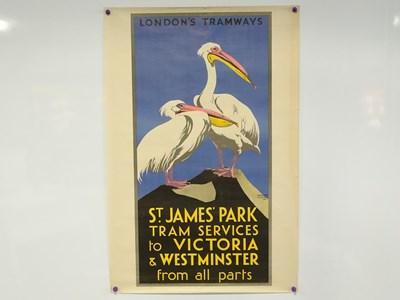 Lot 14 - LONDONS TRAMWAYS (1933) 'St James Park Tram...