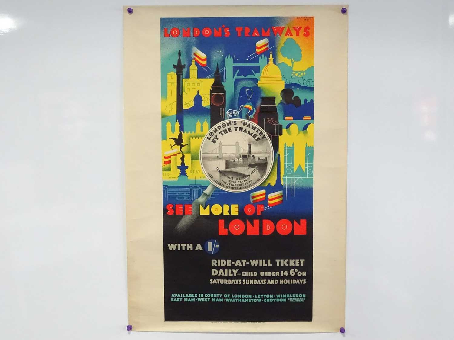 Lot 15 - LONDON'S TRAMWAYS (1933) 'See More of London...