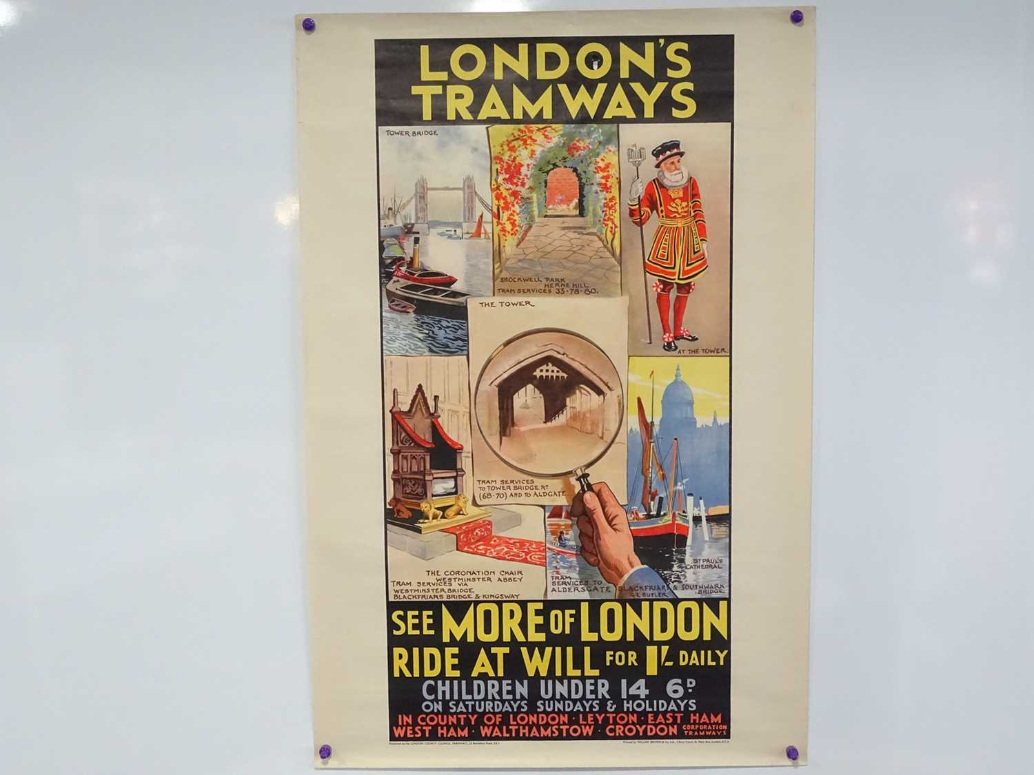 Lot 16 - LONDONS TRAMWAYS (circa 1933) 'See More of...