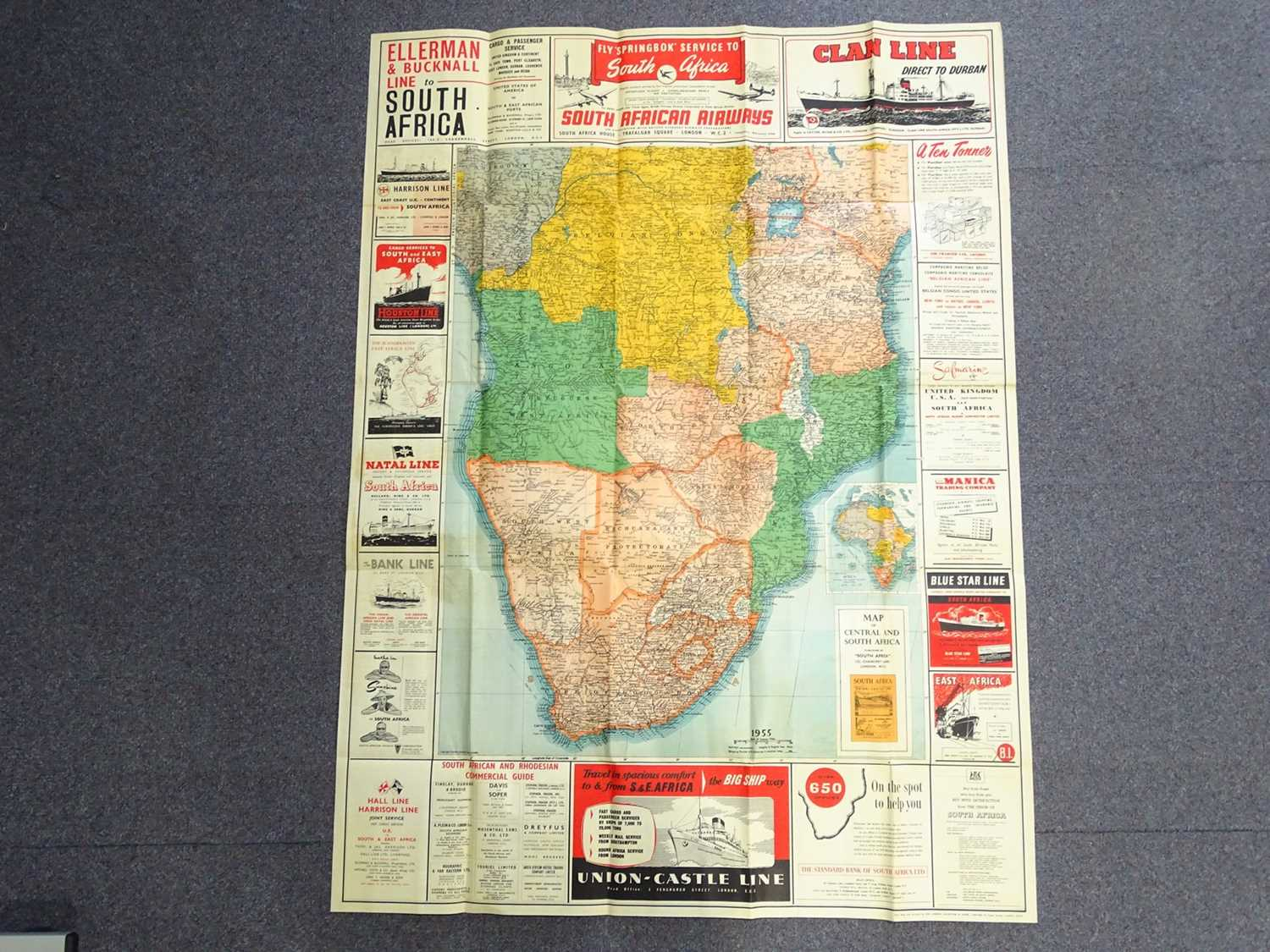 Lot 19 - Poster Map of Southern African Countries...